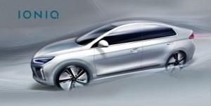 Hyundai Ioniq exterior teaser image ©Hyundai