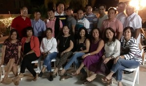 A Milestone for Susan C. Paguio: Susan Paguio (4th from left, seated) basks in the company of her fellow Torres High School batch-mates and friends at the celebration of her 60th year held over the weekend at her Corona residence. Susan and her husband, Realtor, Fred Paguio (4th from L, standing) are active supporters of Torres High School Alumni Association in humanitarian activities in supporting her alma mater.