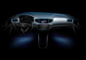 Hyundai Ioniq interior teaser image ©Hyundai