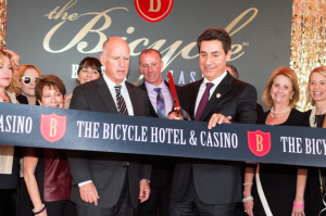 California Governor Jerry Brown & Hashem Minaiy, Managing General Partner & CEO of The Bicycle Hotel & Casino.
