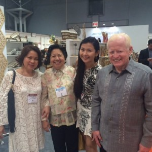 Ambassador Jose L. Cuisia, Jr. and Mrs. Ma. Victoria J. Cuisia (2nd from left) with ristal Leen de Guzman, owner and designer of Risqué Designs, a customized artisan footwear brand in the Philippines, at the NY Now Exhibit in the Jacob K. Javits Center in New York City. (Photo courtesy of Kristal Leen de Guzman)