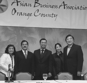Inspiration to others: The secrets of the business success of Twin Eagles Inc., (manufacturer of high-end grilling and barbeque system) run by  Filipino-American entrepreneurs Dante and Fanny Antal, and KCAL Insurance Agency of Kenny Chang, (CEO and Founder), and his daughter, Angela Chang (Chief Strategy Officer), had been shared to the attendees of Asian Business Association of Orange County-sponsored BMW-Procon Business Matchmaking and Procurement Conference at Disney's Paradise Pier in Anaheim last Sept. 23.