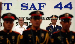 President Benigno S. Aquino III is the guest of honor at Camp Crame for the commemoration of Mamasapano Massacre Monday (January 25). The President will present the PNP Medalya ng Kabayanihan to relatives of the  44 SAF troopers who were slain in the massacre. (MNS photo)