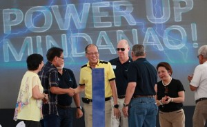 President Benigno S. Aquino III leads the Ceremonial Switch-on of the 300- Megawatt (MW) Davao Baseload Power Plant, Davao Base load Power Plant Complex, Boundary of Bgy. Binugao, Toril, Davao City and Bgy. Inawayan, Sta. Cruz, Davao Del Sur on Friday (January 8, 2016). Also in photo are Mindanao Development Authority (MinDa) chairperson Luwalhati Antonino, Department of Energy Secretary Zenaida Y. Monzada, Aboitiz Power Corporation CEO Erramon I. Aboitiz, Davao City OIC Mayor Karlo S. Bello and Defense Secretary Voltaire Gazmin.This Power plant is one of the critical projects needed to finally solve long term the perennial Mindanao power shortage. This power plant supplies power to more than twenty (20) electric cooperatives and distribution utilities all over Mindanao. (MNS photo)
