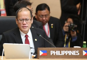 """(BUSAN, South Korea) President Benigno S. Aquino III participates in the 25th ASEAN-Republic of Korea Commemorative Summit Session 1 at the Convention Hall 205 of the Busan Exhibition and Convention Center (BEXCO) on Friday (December 12, 2014). The session agenda is to review of the ASEAN-ROK cooperation and its future direction. With Summit theme: """"Building Trust, Bringing Happiness,"""" reflecting ROK's commitment to strengthen its relationship with ASEAN through trust, which should result in happiness for the citizens of ASEAN and the ROK. (MNS photo)"""
