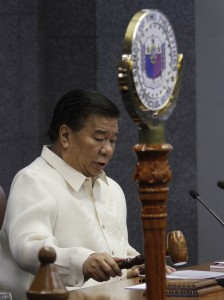 -- Senate President Franklin Drilon opens the 3rd and last Regular Session of the 16th Congress on Monday (July 27, 2015) at the Senate Building in Pasay City. The Senate will hold a joint session with the House of Representatives Monday afternoon to hear the last and 6th State-of-the- Nation Address (SONA) of President Benigno S. Aquino III. (MNS photo)
